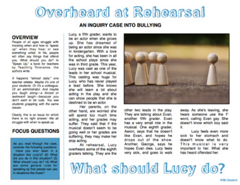Bullying Inquiry: Overheard at Rehearsal