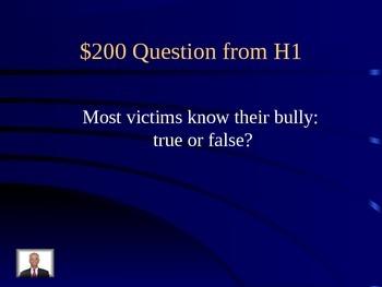 Bullying Jeopardy
