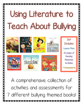 Bullying Literature Bundle--Lesson Plans for 7 Bullying Bo