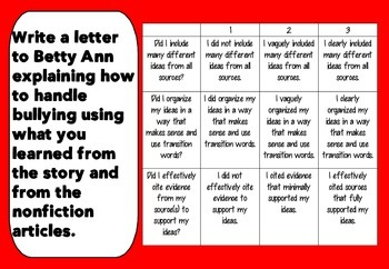 "Bullying Mini-Unit Using ""Betty Ann"" Short Story {Common Core Aligned}"