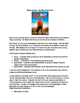 Bullying Movie Guide