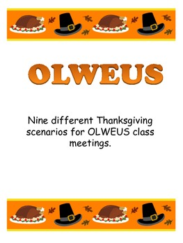 Bullying OLWEUS Thanksgiving Scenarios