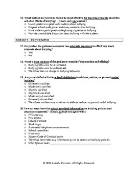 Bullying Perception Survey - Administrators