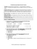 Bullying Perception Survey - Teachers