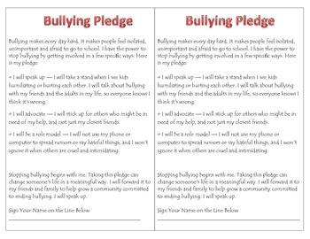 Prevent Bullying Pledge