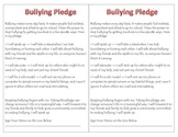 Prevent Bullying Pledge