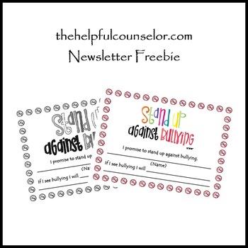 Bullying Pledge - Behavior Management Freebie