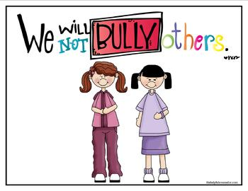 Bullying Poster & Coloring Page Free Download