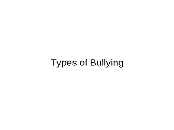Bullying Presentation:  ESL or Students with Limited Vocabulary