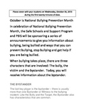 Bullying Prevenion Month Daily Announcement #3