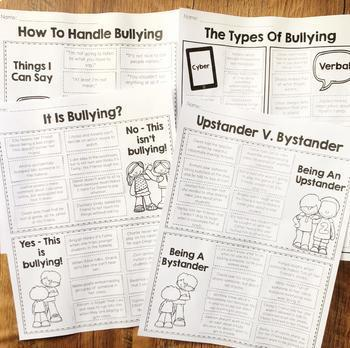Bullying Prevention Cut and Paste Activities