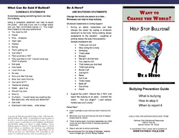 Bullying Information Guide for Schools
