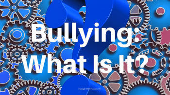 Bullying Prevention Lesson PBIS Character Ed w links to 4 videos