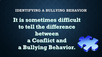 Bullying Prevention / Identifying Using Puzzle Lesson PBIS Conflict Resolution