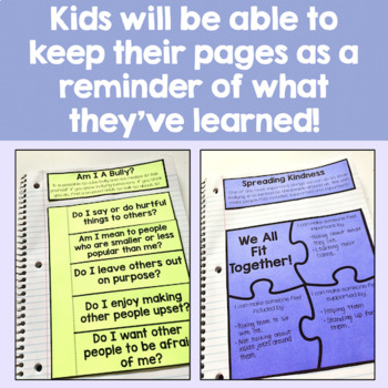 Bullying Prevention Interactive Notebook