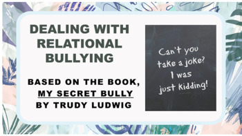 """Bullying Prevention Lesson """"My Secret Bully"""" 4 video links"""
