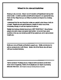 """Bullying Prevention """"What To Do About Bullying"""" WORKSHEET not Lesson PBIS"""