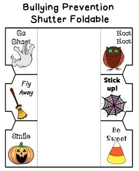 Bullying Prevention Lesson and Foldable Activity - Halloween Theme!