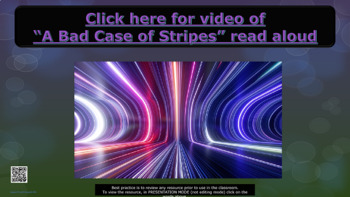 """Bullying Prevention Lesson link to """"A Bad Case of Stripes"""" video PBIS Choices"""