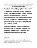Bullying Prevention Month Daily Announcement #2