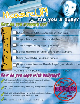 Bullying Prevention Poster: Measure Up