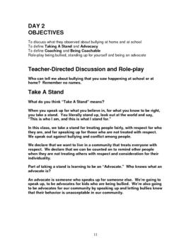 Bullying Prevention - Second Grade