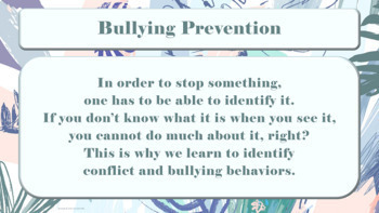 Bullying Prevention Week Assembly PPT PBIS Character Ed w Resources & Video Link