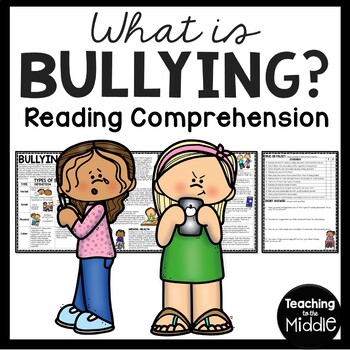 Bullying Reading Comprehension Worksheet, Types, Examples,