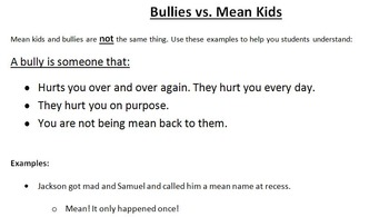 Bullying Resources for Young Students