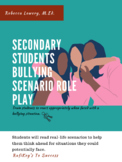 Secondary Student Bullying Scenario Role Play