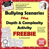 Bullying Scenarios and Depth and Complexity Activity Freebie