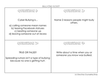Bullying Scoot & Task Cards