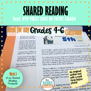 Shared Reading Lesson Bundle Week 2 (Grade 5 Ontario Curriculum Aligned)