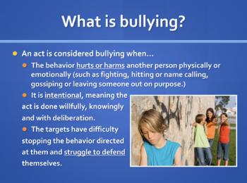 Bullying Statistics Powerpoint Presentation
