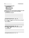 Bullying Survey - 4th grade
