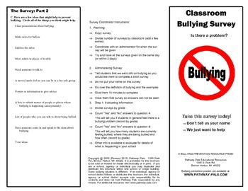 Bullying Survey for Schools