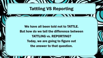 Bullying -Tattling VS Reporting Guidance Lesson - w/ Video Editable