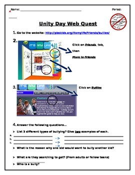 Bullying Web Quest
