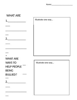 Bullying Worksheet