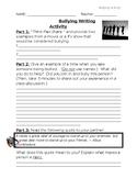 Bullying Writing Activity (Guidance Activity)