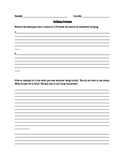 Bullying Writing Prompts