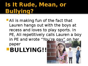 Bullying and Cyberbullying Presentation and Activity