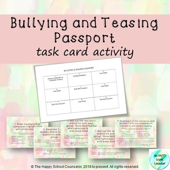 Bullying and Teasing Passport Stations Activity