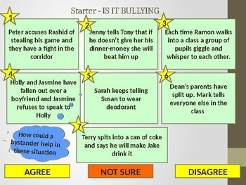 Bullying and how to deal with it.