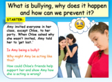 Bullying and why people bully - 1 hour lesson
