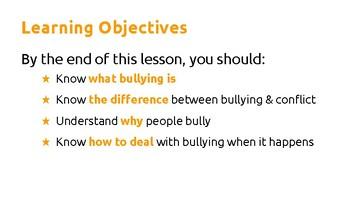Bullying awareness lesson