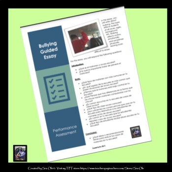 Bullying guided essay- for LOTE Spanish