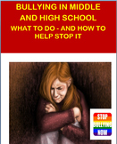 Bullying in Middle and High School- How to help stop bullying