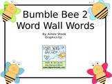 Bumble Bee 2 Word Wall Words