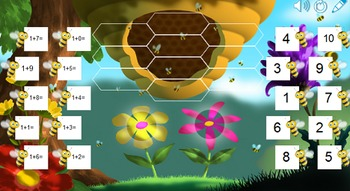 Bumble Bee Addition Facts SMART Board Lesson